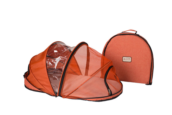 Portable Folding Carrier for Small Pets - Orange - CountrysidePet.com