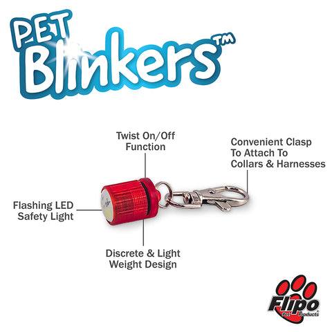 Flipo Pet Blinkers Flashing LED Safety Light Features - CountrysidePet.com