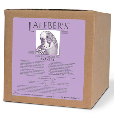 Lafeber Premium Daily Diet Pellets Parakeet  (25 lb Box) -- FREE SHIPPING - Countryside Pet Supply - 1
