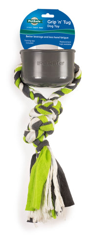 PetSafe Grip 'n Tug Dog Rope Toy with Plastic Handle (PTW00-16035)