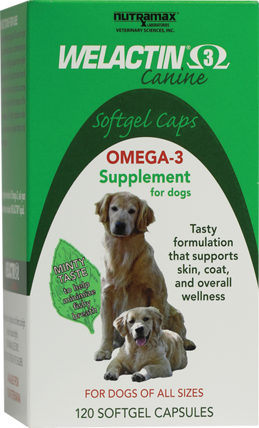 Welactin Omega-3 Softgel Caps for Dogs - 120 Capsules