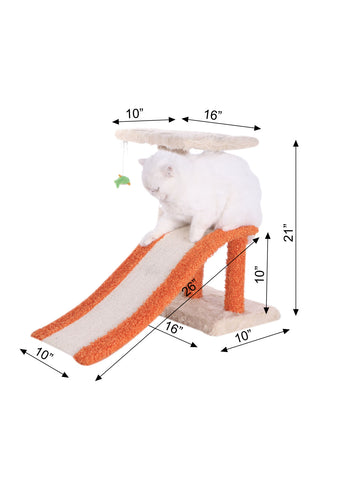 Premium Cat Tree with Ramp - Dimensions - CountrysidePet.com