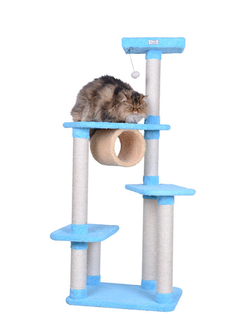 Premium Multi-Level Cat Tree with Tunnel with Cat - CountrysidePet.com