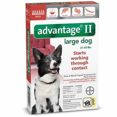 Advantage II for Large Dogs - 6pk