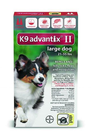 K9 Advantix for Large Dogs 21-55 lbs. - 2 pack