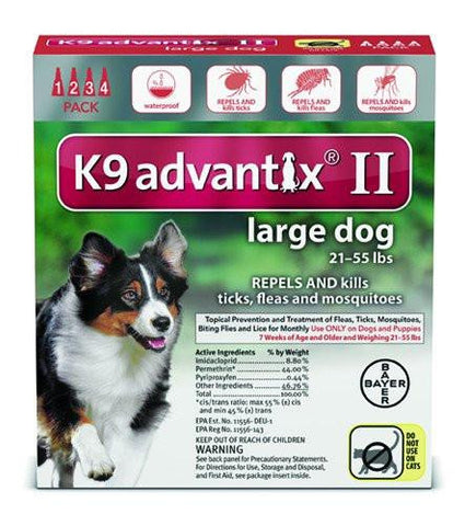 K9 Advantix for Large Dogs 21-55 lbs. - 4 pack
