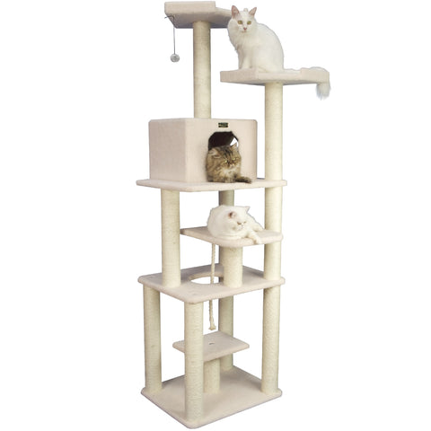 Extra Large Classic Cat Tree with Playhouse - CountrysidePet.com