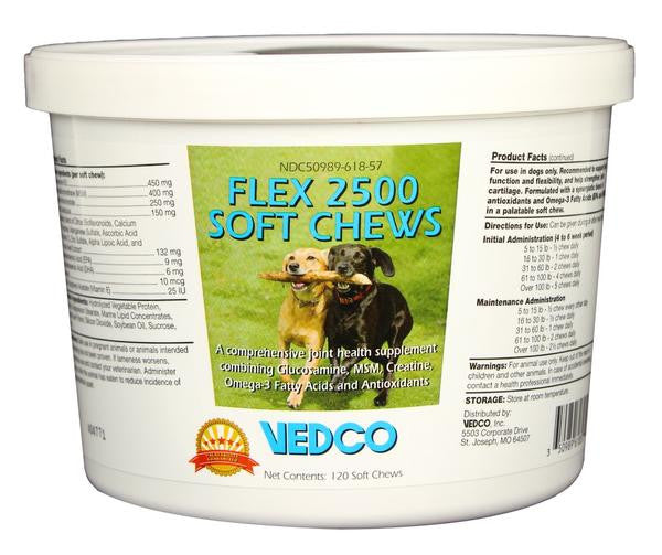 Flex 2500 Joint Support for Dogs - 120 Soft Chews
