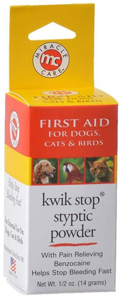 Kwik Stop Styptic Powder 14gm. - CountrysidePet.com