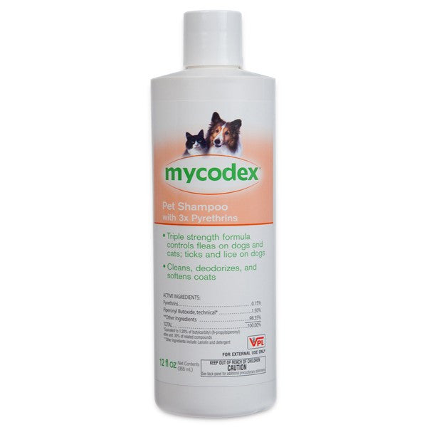 Mycodex P3 Flea & Tick Shampoo Triple Strength (6 oz) - Countryside Pet Supply