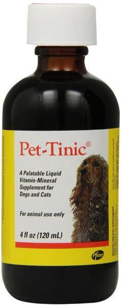 Pet-Tinic Liquid Multivitamin for Pets - 4 Ounce