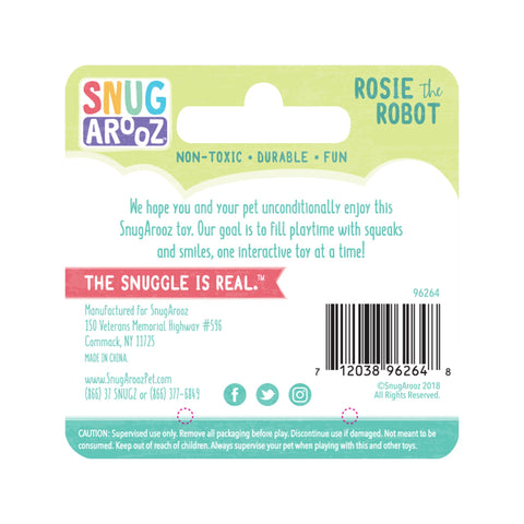 Snugarooz Rosie the Robot at Countrysidepet.com