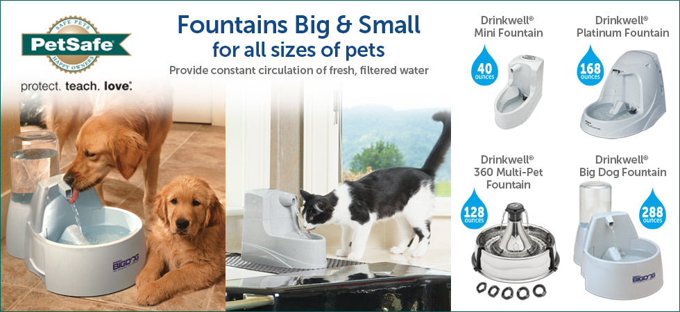 Big fountains, small fountains, fountains of all sizes! Take a look!