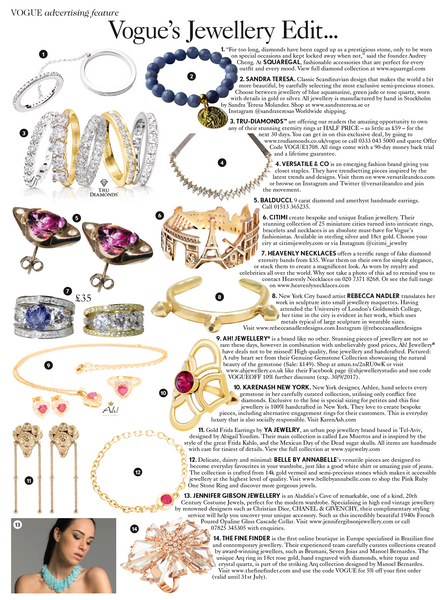 British Vogue August Issue Jewellery Edit