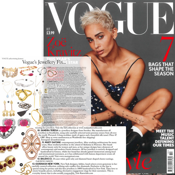 Vogue's Jewellery Fix     October Issue 2017