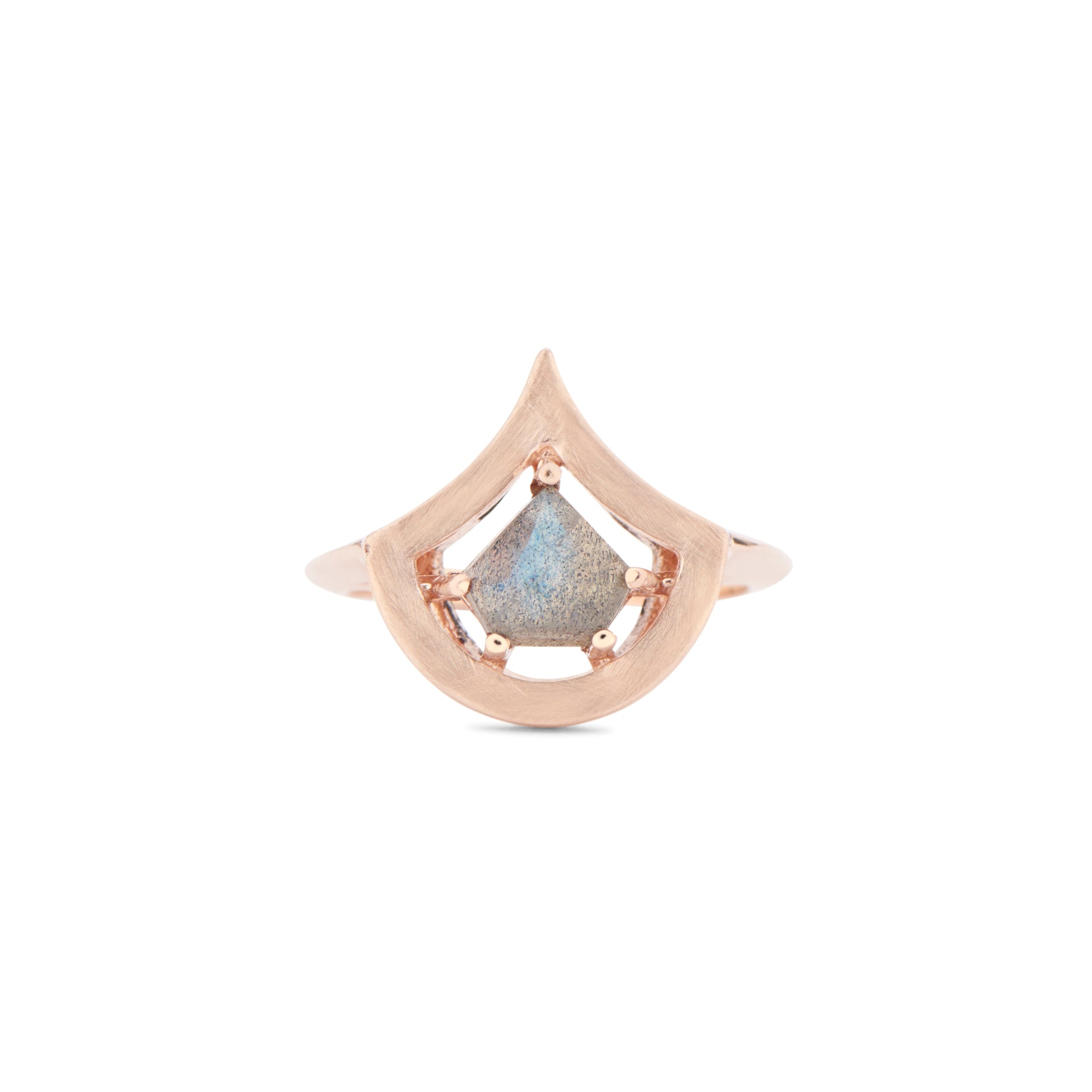 Shield your heart Labradorite ring Rose gold by KarenAsh NewYork