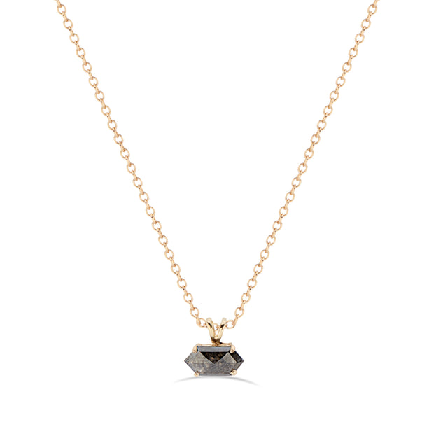 hexagon black diamond 14K gold by KarenAsh New York