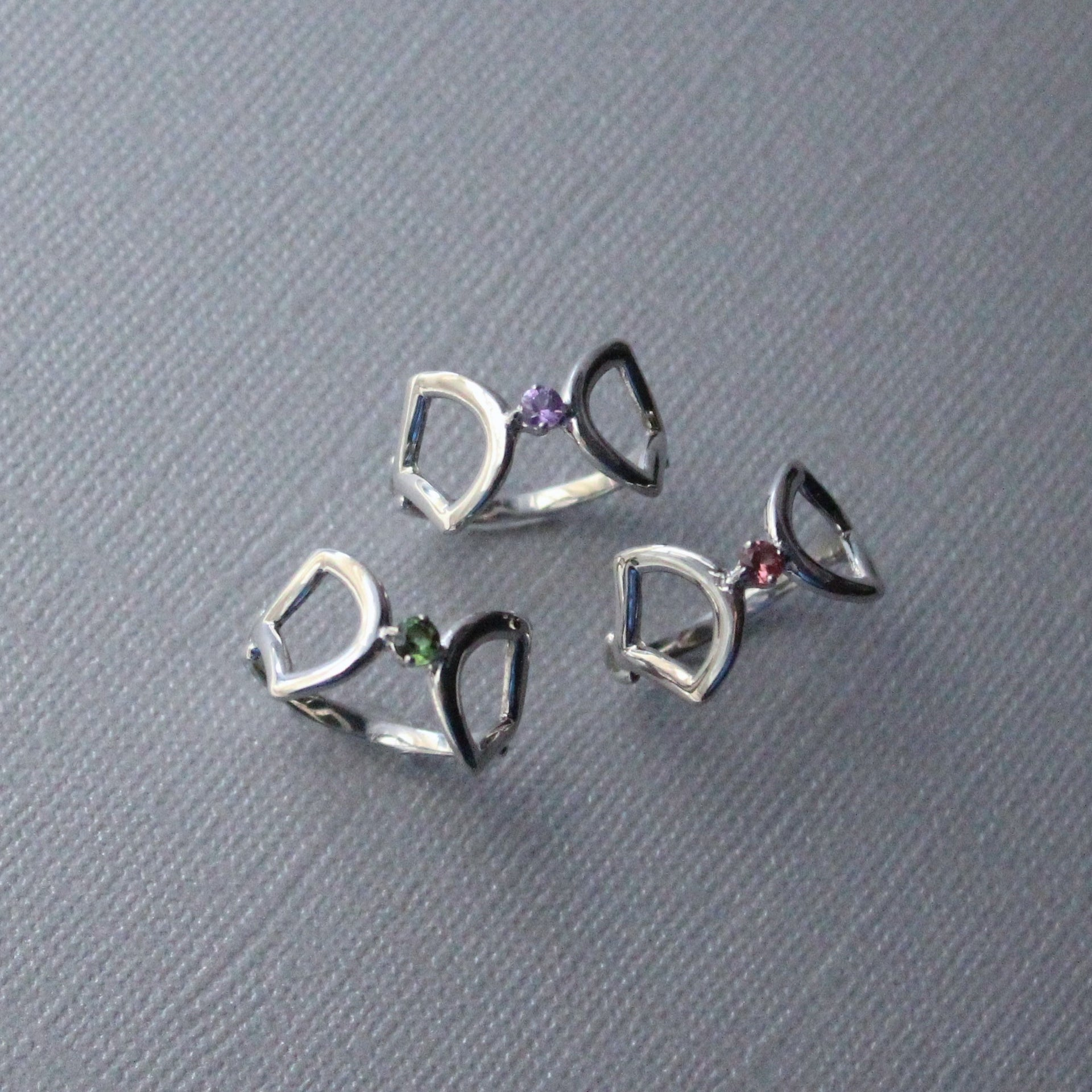 Papillon sterling silver ring with sapphires by KarenAsh New York