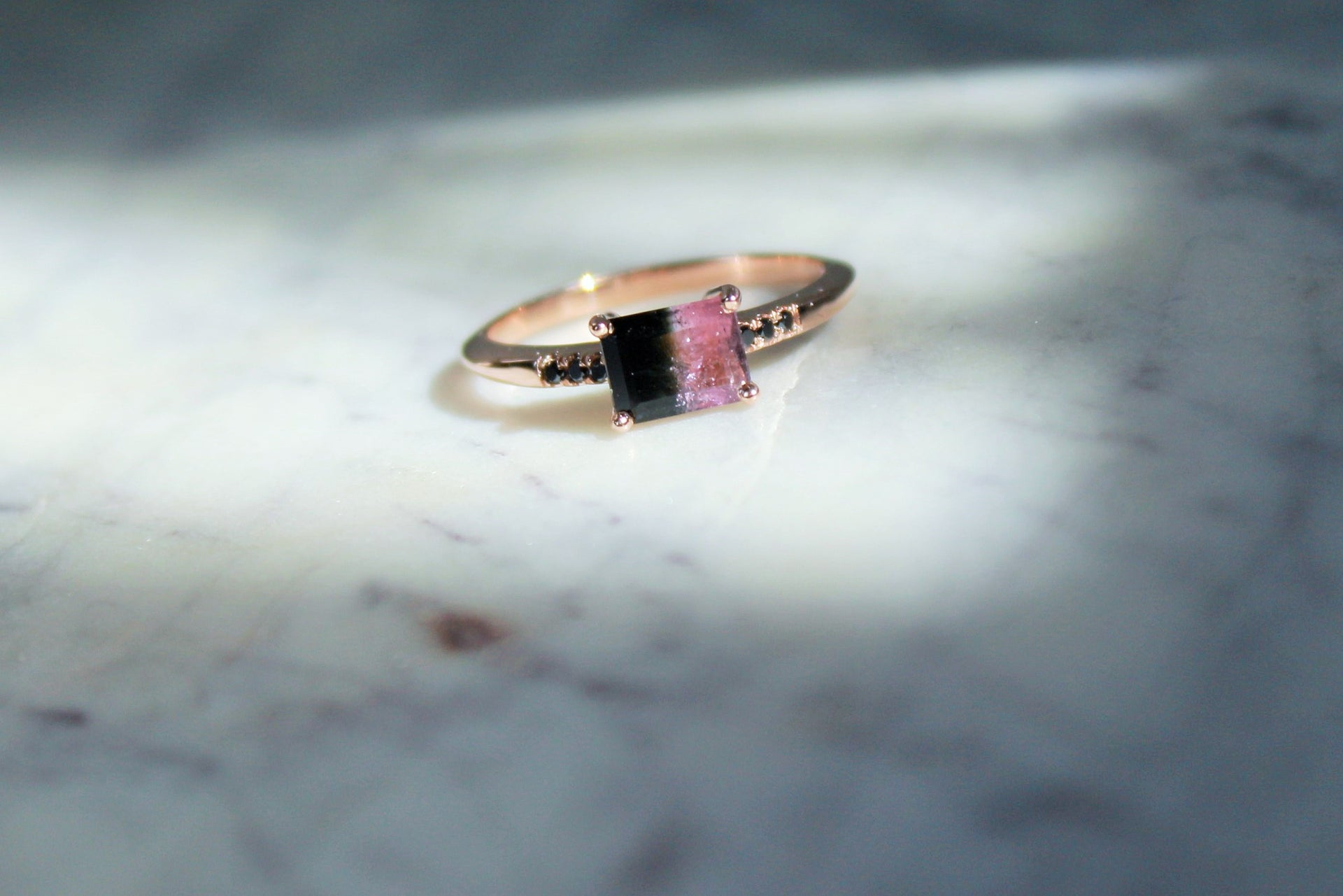 One of a kind Bicolor Tourmaline Ring KarenAsh New York