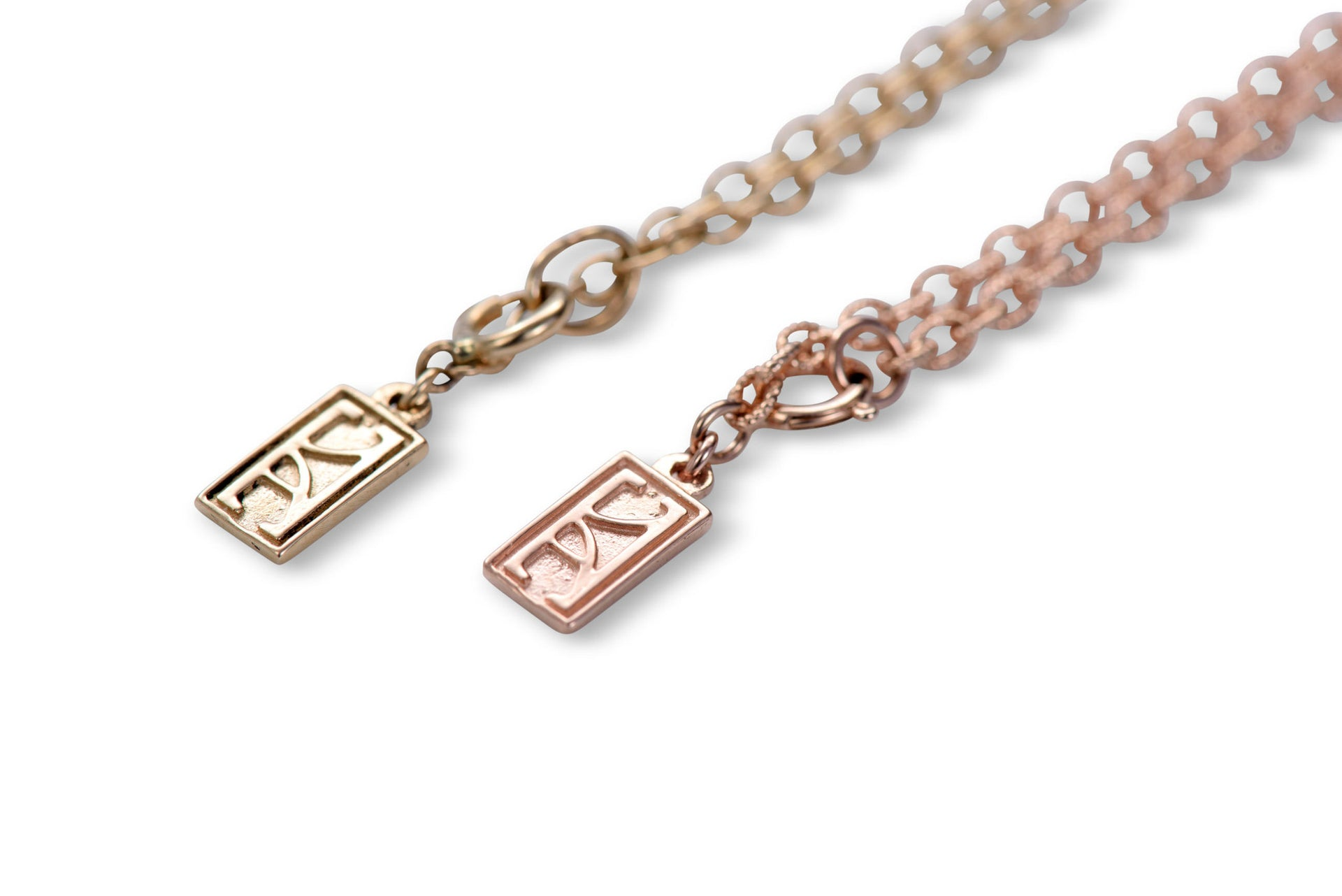 LUXE Deco pendant 14 KT Rose Gold Choker by KarenAsh New York