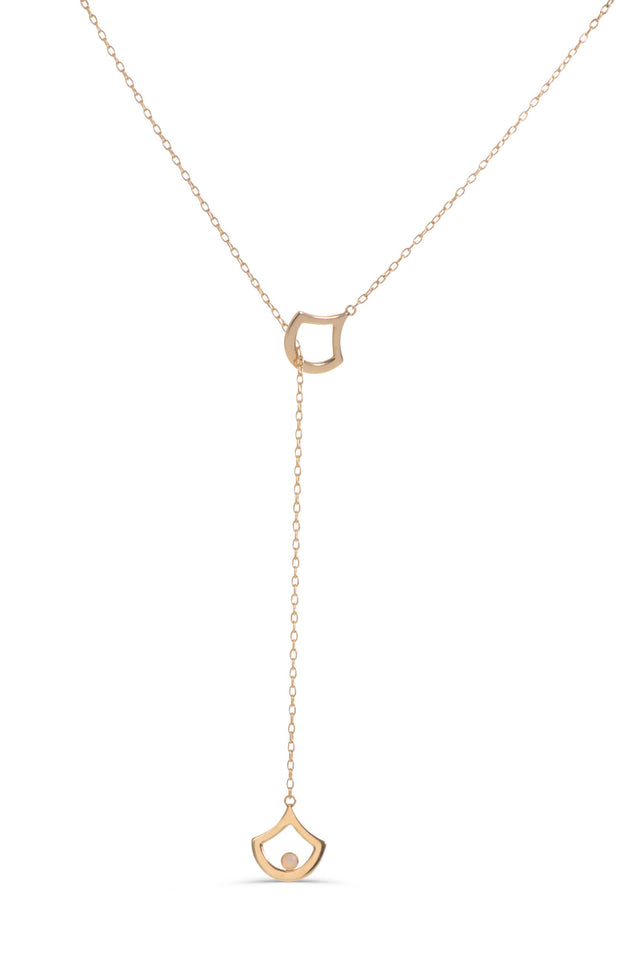 "14 KT Yellow Gold 18"" necklace with opal cabochons by KarenAsh New York"