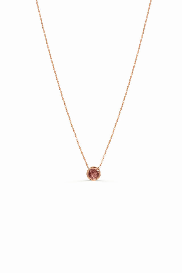 Rose gold Morganite necklace by KarenAsh New York