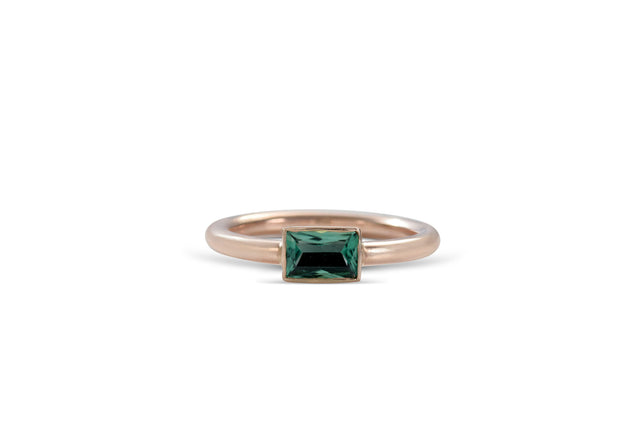 Green Tourmaline 14KT Rose gold Ring by KarenAsh New York