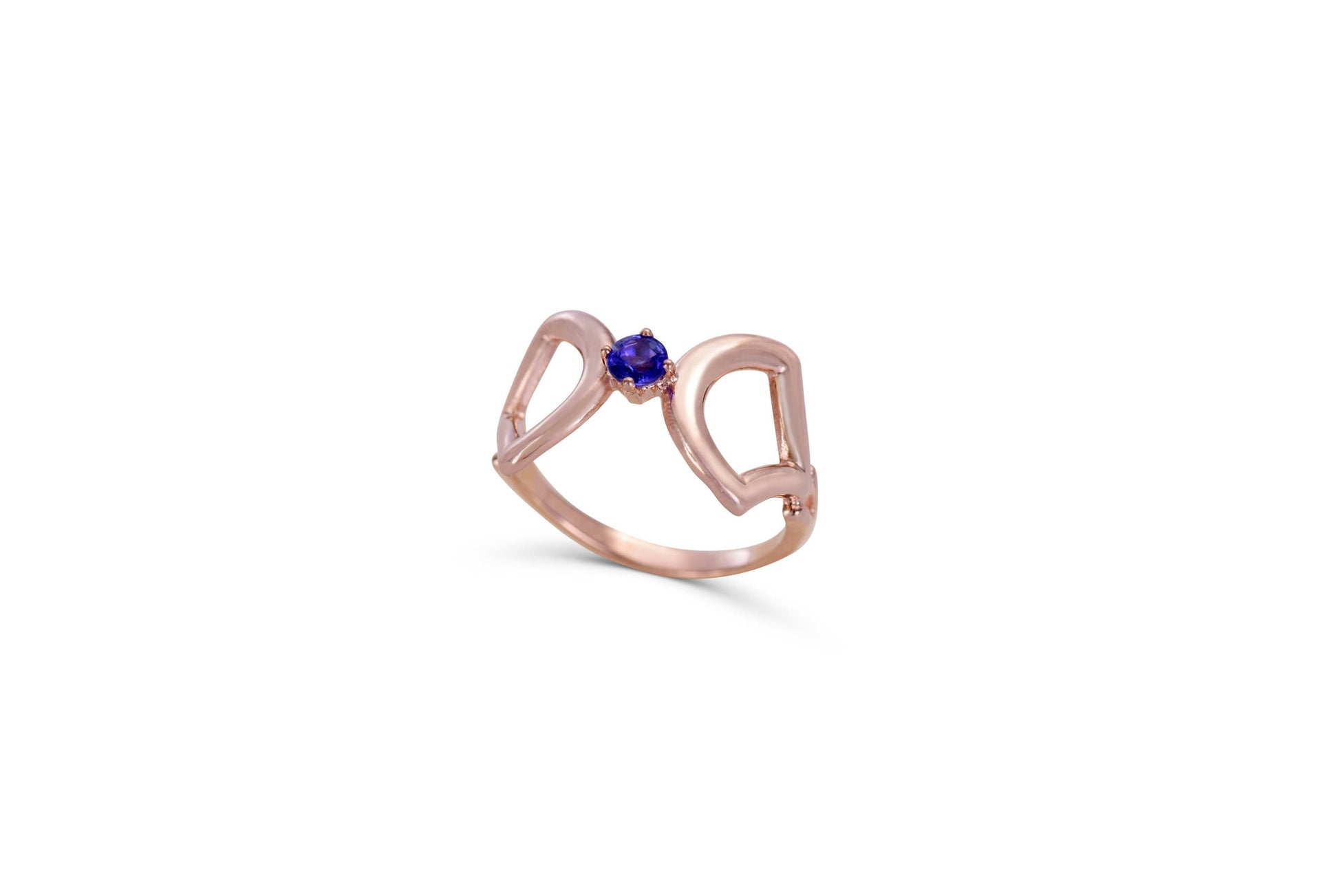 Papillon Rose gold ring with tanzanite by KarenAsh New York