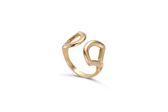 Solid Gold Aria adjustable ring by KarenAsh New York