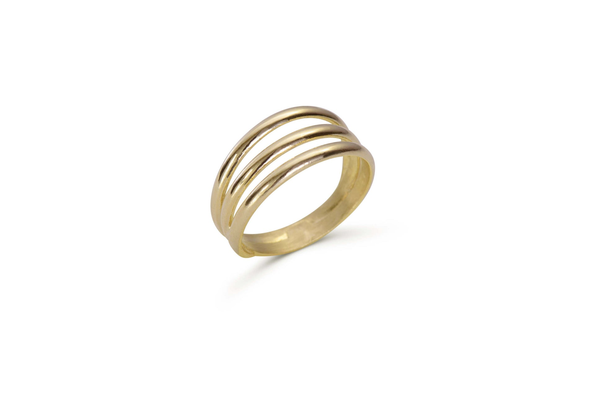 Signature Trio ring solid yellow gold by KarenAsh New York