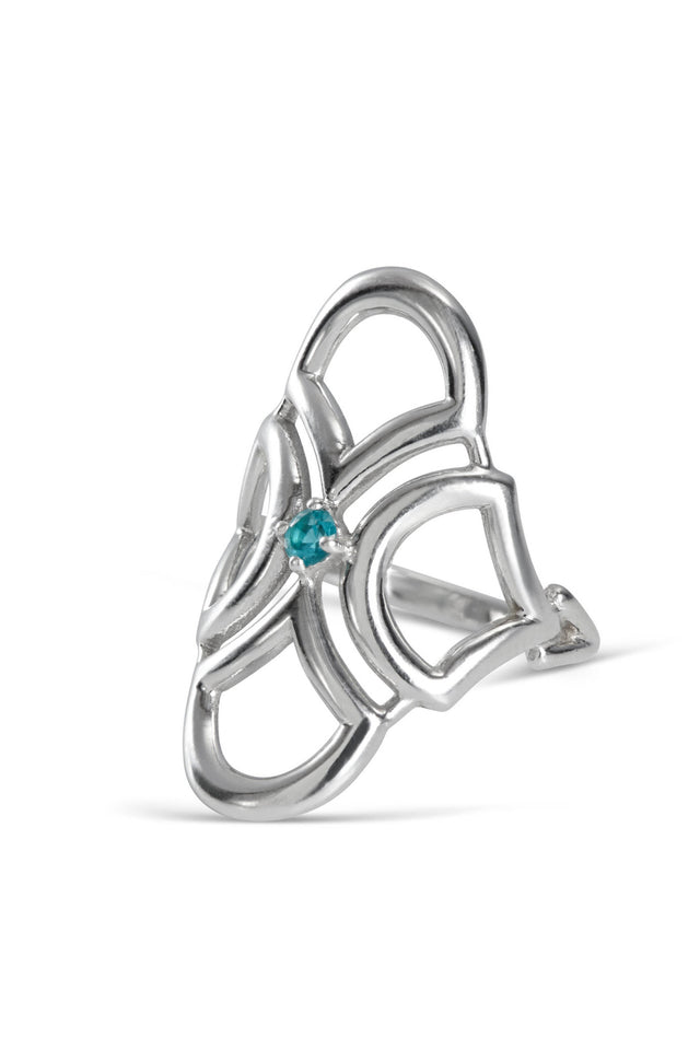 Paraiba Tourmaline Deco ring by KarenAsh New York