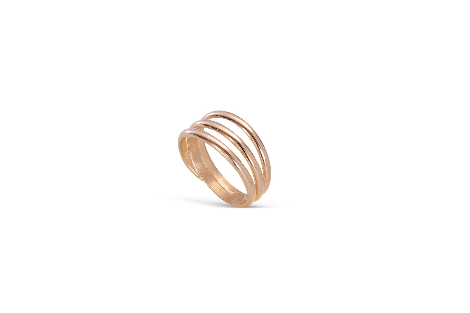 Signature Trio ring solid rose gold by KarenAsh New York