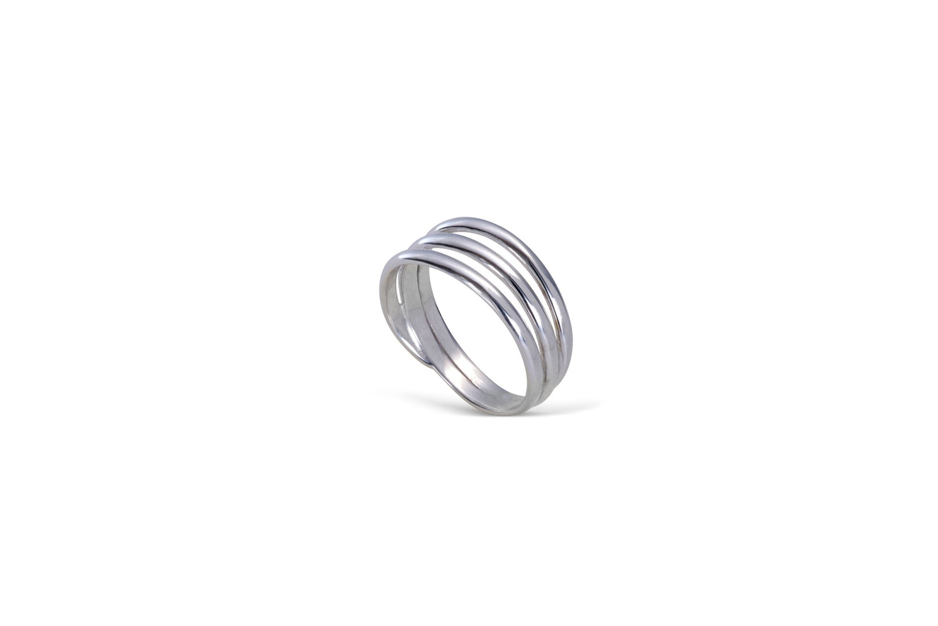 Signature Trio ring solid white gold by KarenAsh New York