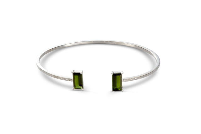 GREEN TOURMALINE EMPIRE WITH DIAMONDS