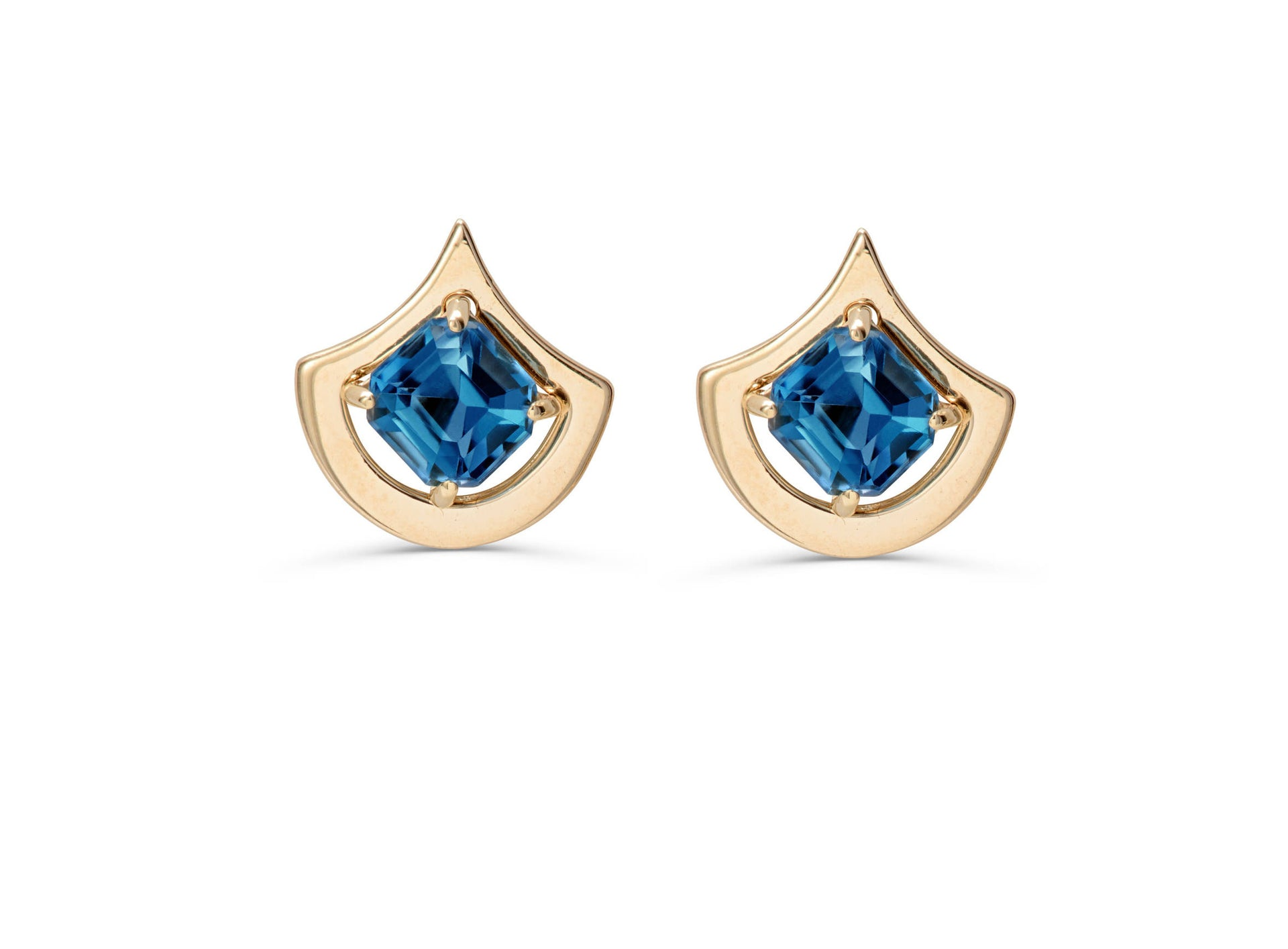 blue coin dark earrings topaz gold diamond yellow roberto l