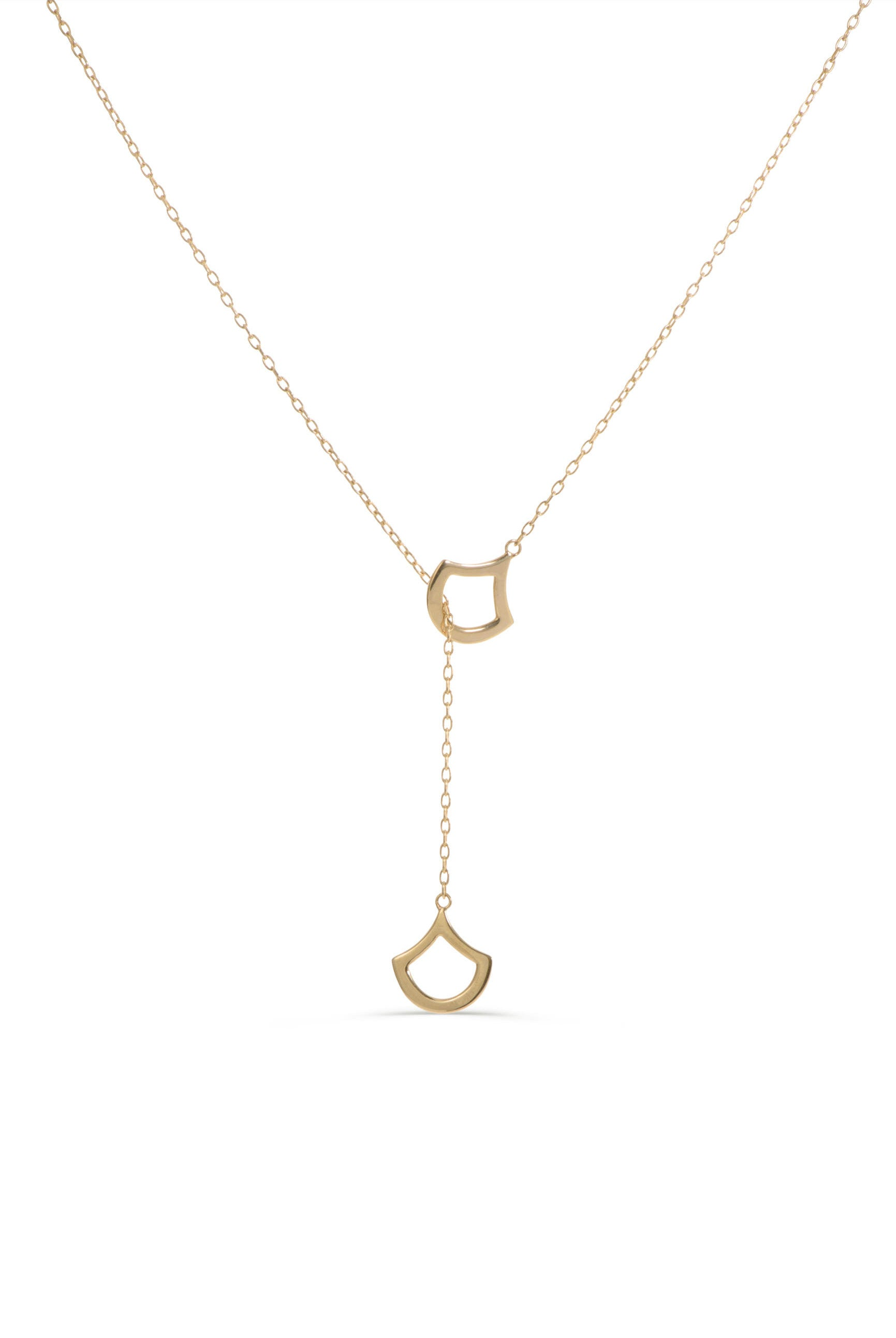 Adjustable lariat necklace 14 KT Gold