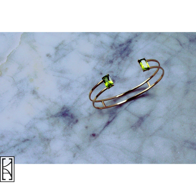 peridot bangle twin empire new york
