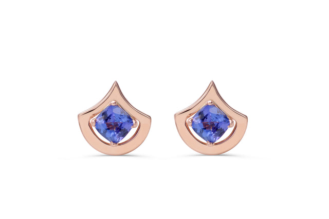 Tanzanite earrings, set in 14 kt rose  by KarenAsh New York