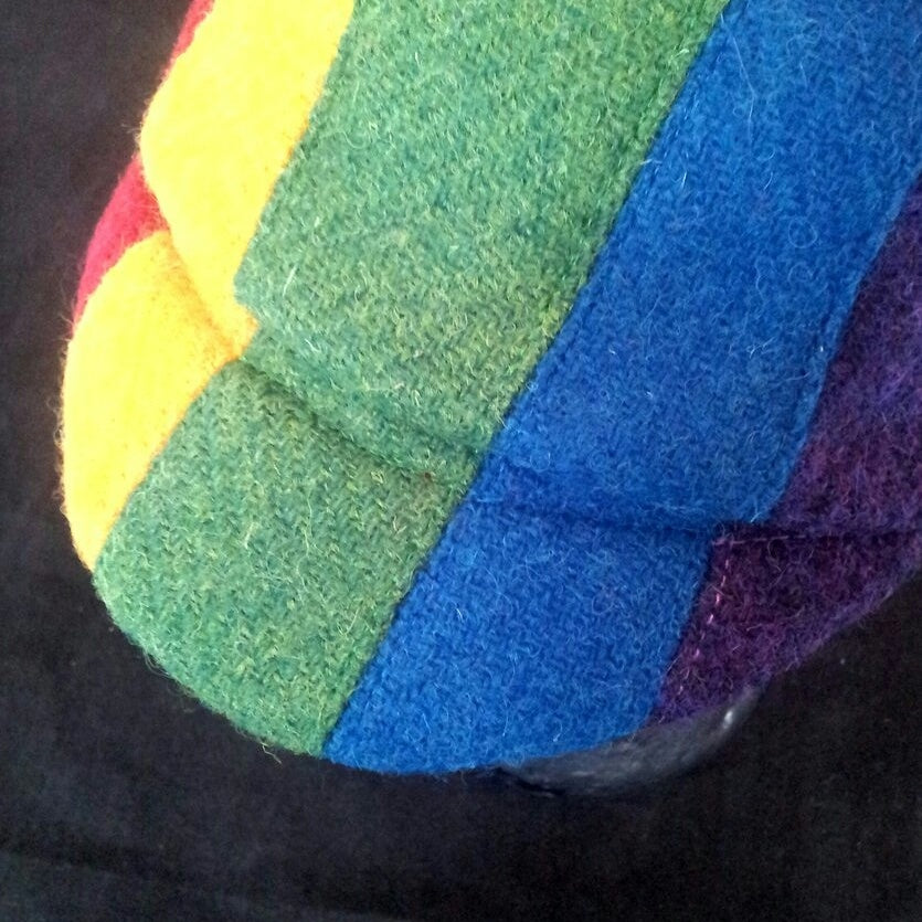 Rainbow 'Harris Tweed Cycling Caps.