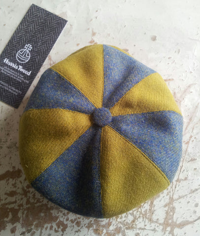 Harris tweed bakerboy hat