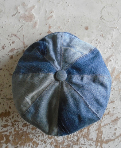 Denim bakerboy hat