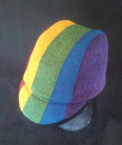 Harris Tweed cycling cap rainbow