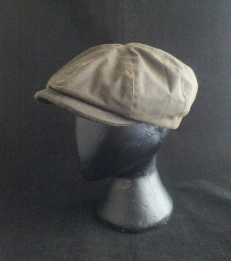 Bespoke Waxed Cotton Baker Boy Cap 75f0e2ed556