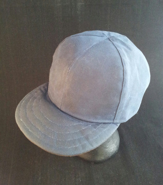 Waxed Cotton Snapback/Baseball/Trucker Cap With Horween Leather Strap, Made to Measure (7 colours.)