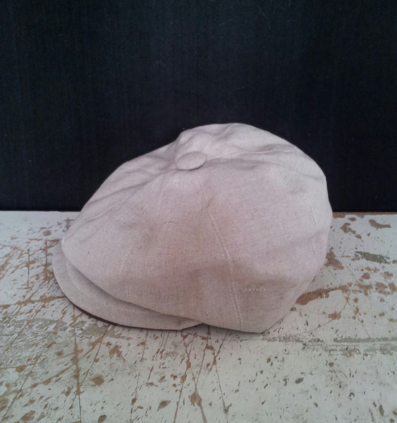 CHILDS/TODDLERS Linen Baker Boy, Newsboy Cap. Bespoke, Made To Measure.