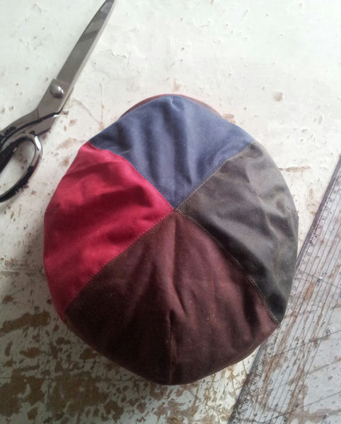 Waxed Cotton Baker Boy, Newsboy Cap, Bespoke Hat