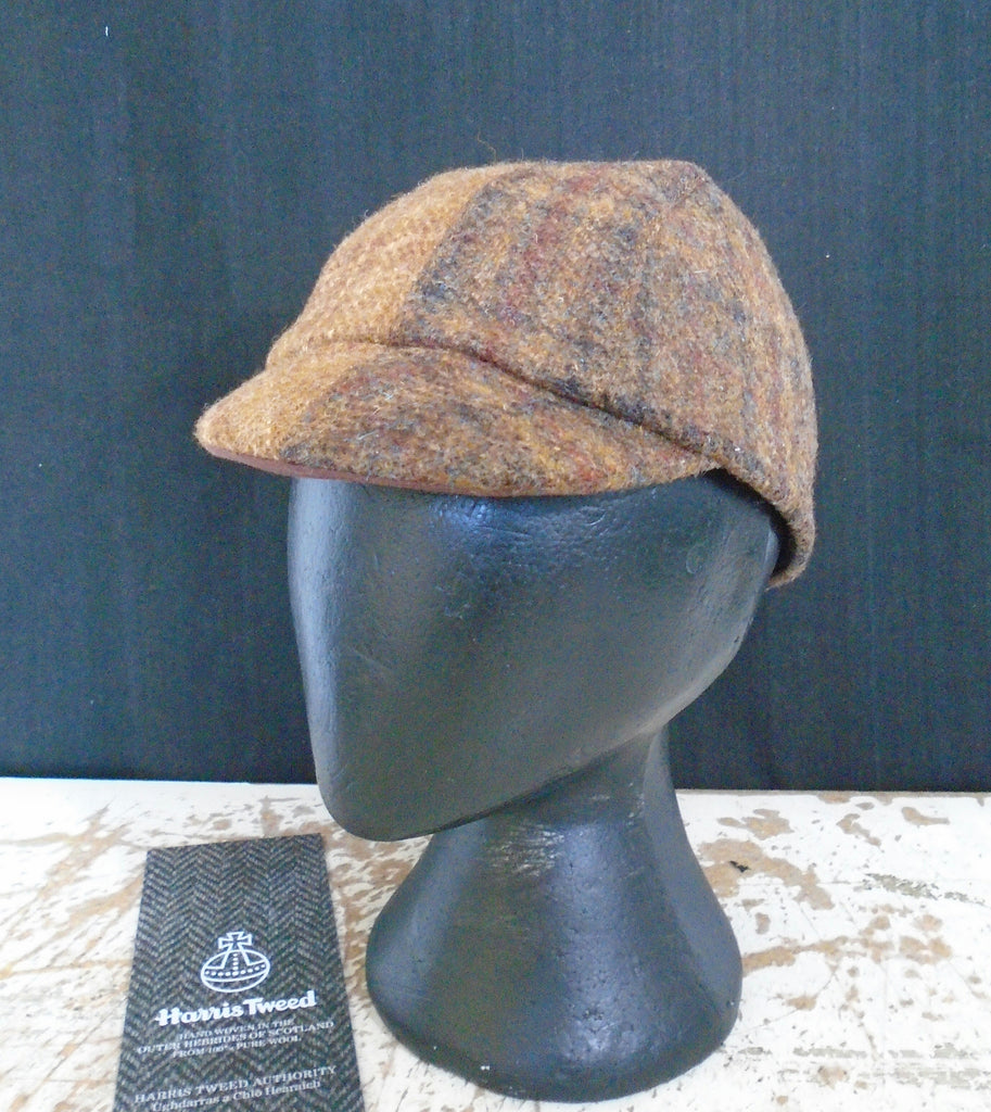 Harris Tweed cycling cap.