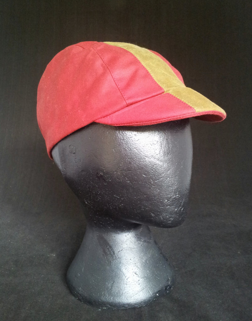 waxed cotton cycling cap, Spain.