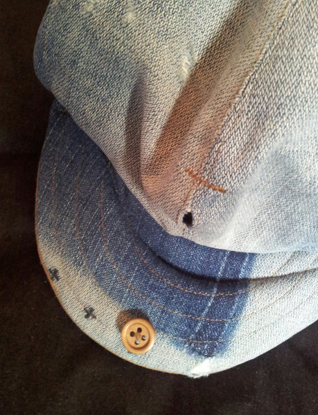 denim bakerboy cap