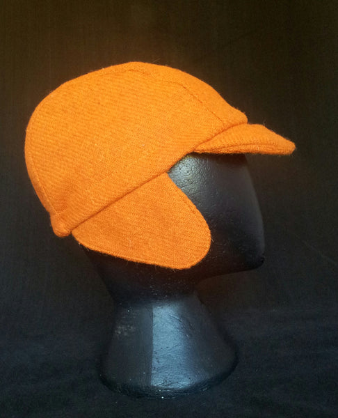 Harris Tweed cycling cap, earflaps.